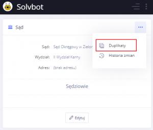 Wyszukiwanie duplikatów - system dla syndyków - oprogramowanie dla syndyków